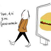 Aller au fast-food, écrire à un mec : même combat !
