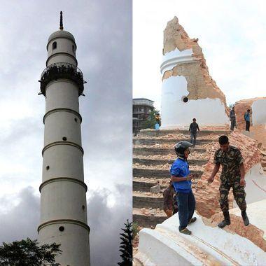 Séisme au Népal : les photos avant/après de Katmandou