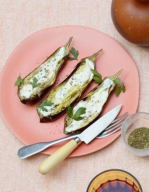 Aubergines sauce tahina
