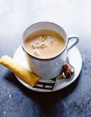 Biscuit cacao noisette sans gluten et chai latte