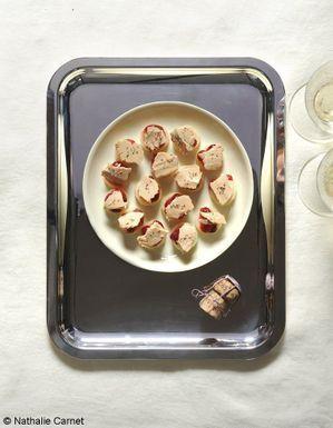 Bouchées de panais au foie gras