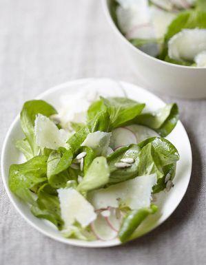 Salade de mâche au parmesan