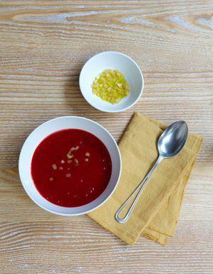 Soupe de betterave au citron confit