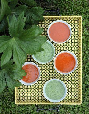 Soupe verte glacée