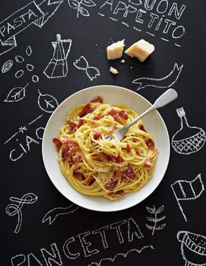 Spaghettis carbonara à la pancetta