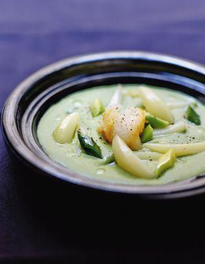 Vichyssoise infusée au haddock, poireaux et pommes de terre
