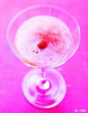Bellini rhubarbe-fraise
