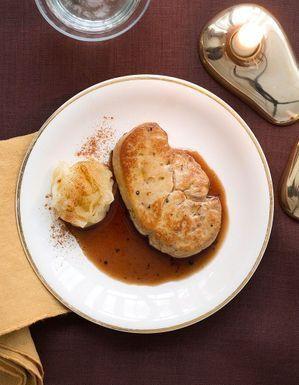 Foie gras chaud, confit pommes-pommes de terre