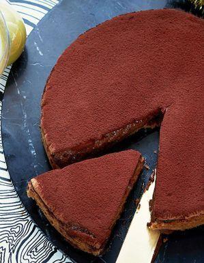 Tarte fine sablée au chocolat de Mathieu Pacaud