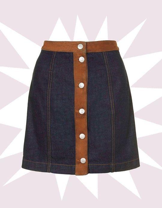 Une jupe à boutons pour être sexy et jolie !