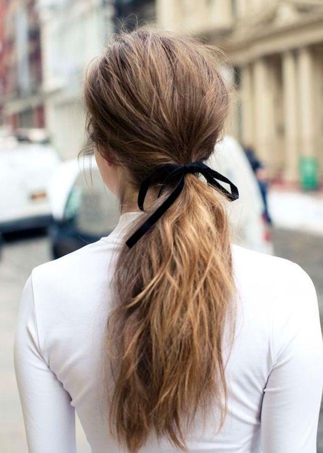 coiffure de mariage avec ruban
