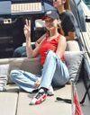 Bella Hadid, souriante et lookée au Grand Prix de Monaco