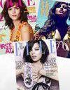 La même robe Miu-Miu en couverture de trois magazines