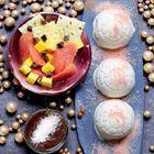 Igloos chocolatés et fruits au sirop épicé