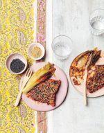 Saumon en croûte de sésame et épices tandoori