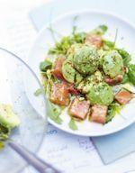 Salade de saumon, sarrasin et avocat