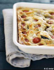 Clafoutis mozzarella, tomates et sardines