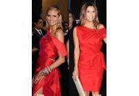 La petite robe rouge embrase les soirées VIP