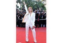 Mélanie Laurent : smoking blanc sur tapis rouge à Cannes