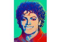 Le portrait de Michael Jackson par Andy Warhol aux enchères