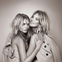 Cara Delevingne Et Kate Moss, Réunies Pour L'eau De...