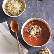 Velouté Acidulé De Tomates Et Graines Germées
