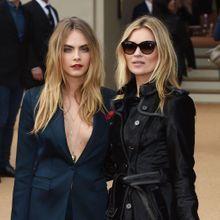 Cara Delevingne et Kate Moss, les bombes de la Fashion Week de Londres !