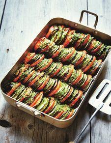 Tian de légumes au canard