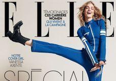 Vanessa Axente prend la pose pour les trois couvertures du ELLE Spécial Mode