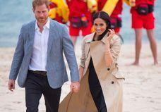 Meghan Markle et le prince Harry, l'amour à la plage