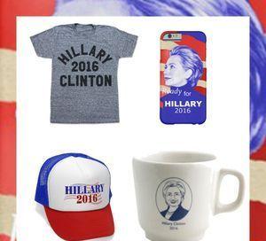 Mugs, T-shirts, tote bags… les meilleurs goodies 100% Hillary Clinton !