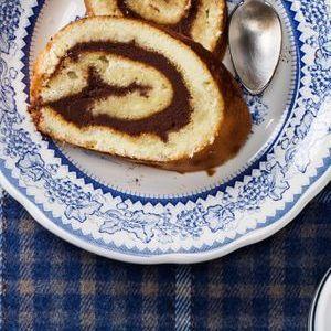 Gâteau roulé choco-marron