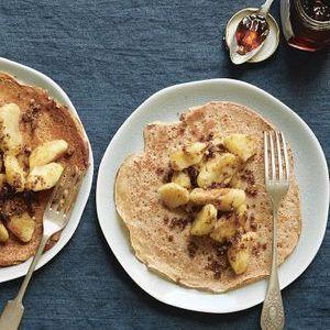 Pancakes à l'épeautre, pommes caramélisées de Trish Deseine