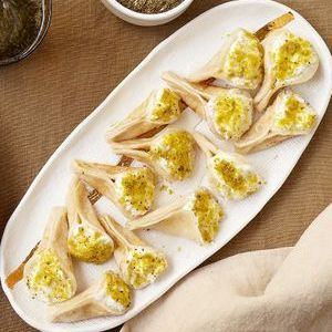Petites crêpes aux pistaches