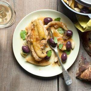 Poulet aux olives violettes