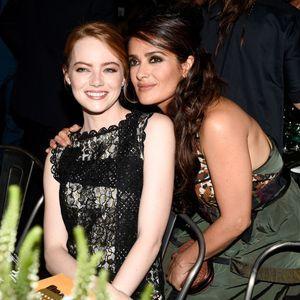 Salma Hayek Et Emma Stone Font La Fête Au Gala In T...