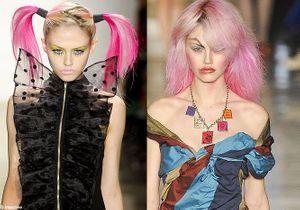 Elles ont toutes les cheveux roses
