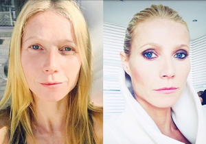 Gwyneth Paltrow : son selfie avant/après l'étape make-up