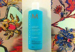 On aime : le shampoing Clarifiant de Moroccanoil