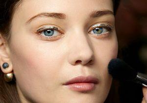 Les secrets du maquillage métallique Dior Couture
