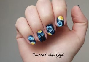 Nail Art : un Van Gogh sur mes ongles
