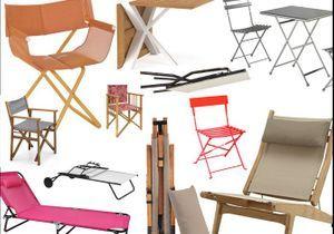 Gain de place, les meubles de jardin pliables