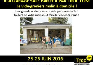 La « garage sale party » par Troc.com