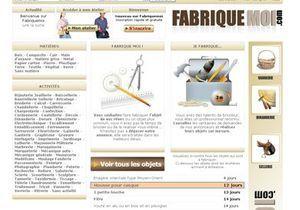Ouverture du site internet  www.fabriquemoi.com