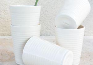 L'objet déco du jour : des gobelets trompe-l'œil en céramique