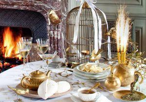 Une déco de table or et argent pour illuminer vos fêtes