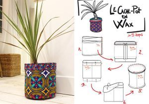 DIY : un cache-pot en wax
