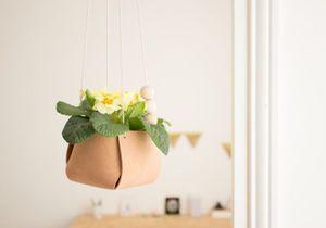 DIY : créez un cache-pot suspendu en cuir