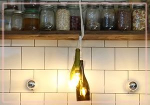 DIY : fabriquez une lampe avec des bouteilles en verre
