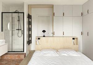 Avant/Après : une salle de bains ouverte s'invite dans la chambre